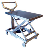 Electric height adjustable trolley