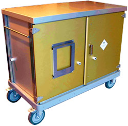 UN3291 certified decontamination centre transfer trolley